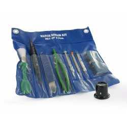 Kit de d'entretien et de réparation de 9 outils d' Horloger avec Pochette de rangement