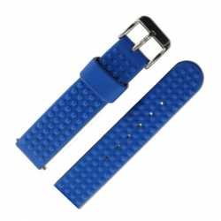 Bracelet de montre 18mm PVC à Picots Bleu Azur Water Résist