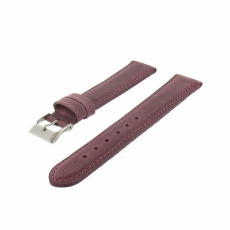 Bracelet de montre Bordeaux Largeurs de 14, 18 et 20mm en cuir de veau lisse Golf Made In Spain
