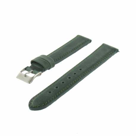 Bracelet montre Vert Largeurs de 14-18 et 20mm Cuir de veau Golf EcoCuir® Artisanal