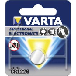 Pile bouton CR1220 Lithium 3 Volts 35 mAh Varta