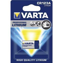 Pile Photo CR123A Lithium CR17345 3 Volts 1480 mAh Varta®
