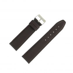 Bracelet montre Marron Largeurs de 12 à 24mm en cuir de veau Valencia EcoCuir®