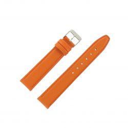 Bracelet montre Orange Largeurs de 12-14 et 18mm en cuir de veau Valencia EcoCuir®