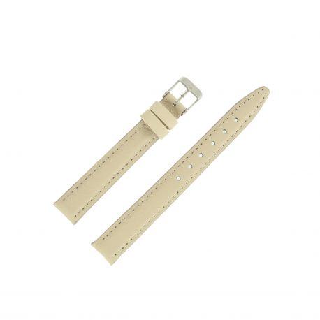 Bracelet montre Beige Largeurs de 12 et 14mm en cuir de veau Valencia EcoCuir®