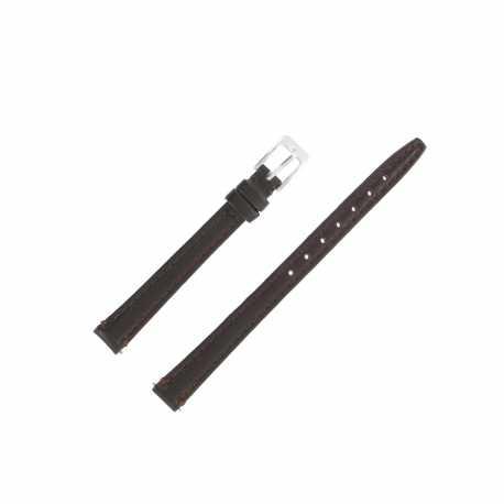 Bracelet montre Extra long Marron 10mm en cuir de vachette Classic