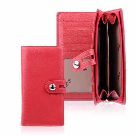 Portefeuille femme en cuir véritable LC Chloé 9.5x17.5x3cm