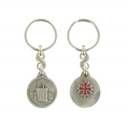 Porte clé médaille argentée de la Cathédrale Sainte Cécile d'Albi Made In France