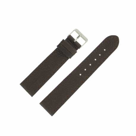 Bracelet montre Marron de 18 et 20mm en Cuir gaufré Buffalo Ecocuir® Artisanal