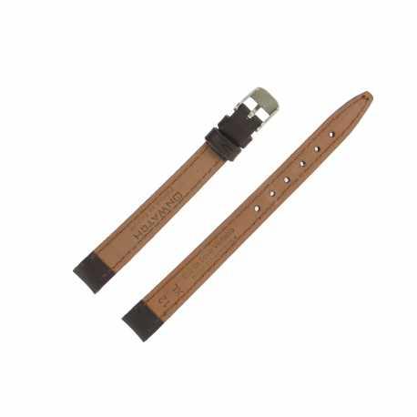 Bracelet montre Long 12 à 24mm Marron Cuir de veau Valencia EcoCuir® Artisanal