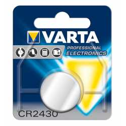 Pile bouton Lithium CR2430 3V Varta Professional