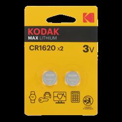 Blister de 2 Piles bouton CR2032 Lithium Max Kodak 3 Volts