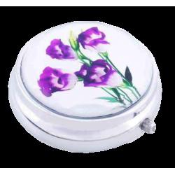 10400B Boîte à pilule motif Fleur