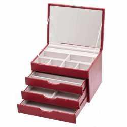 367 288 Boîte à bijoux en similicuir Grain de Buffle Davidt's