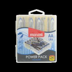 Boîte de 24 Piles Alcalines AA LR06 1.5 Volts MN1500 Maxell®
