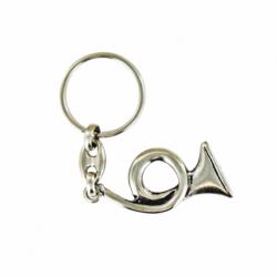 Porte clés métal Cor de chasse. Made In France Artisanal