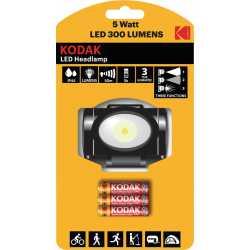 Lampe Frontale LED 300 Lumens IP44 Kodak®