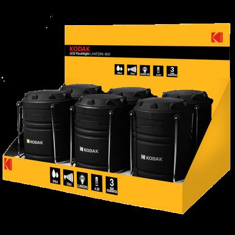 Présentoir de 6 Lanternes de camping LED 400 Lumens IP64 Kodak®