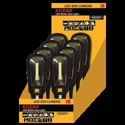 8 Lampes Baladeuse magnétique LED 200 Lumens IP64 Kodak®