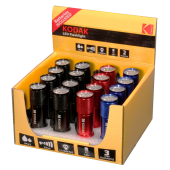 "Présentoir de 16 Lampes de poche ""9 LED"" 46 Lumens 25 mètres IP62 Kodak®"