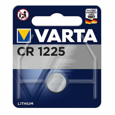 Pile Bouton CR1225 Lithium 3 Volts 48mAh Varta®