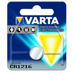 Pile Bouton CR1216 Lithium 3 Volts 25mAh Varta®