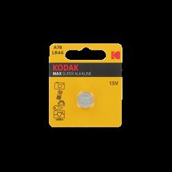 Pile bouton LR44-V13GA-A76 Alcaline 1.5 Volts 125 mAh Kodak®
