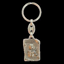 Porte-clé 12 Signes Astrologiques Médailles en métal émaillés. Made in France Artisanal