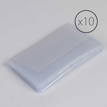 PL004 Paquet de 10 étuis transparents pour cartes