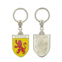 Porte clé Blason du département de l'Aveyron 12 Made In France
