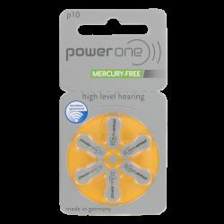 Piles Auditives 1.45v PowerOne P10 Jaune