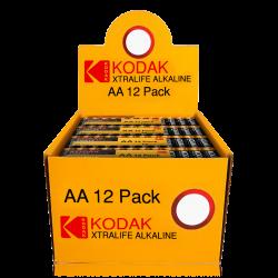 Présentoir Shrink LR06 AA Migon Alcaline Xtralife 1.5 Volts Kodak®