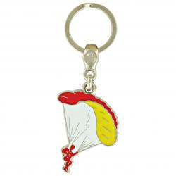 Porte-clé Parachute en métal émaillé. Made In France Artisanal