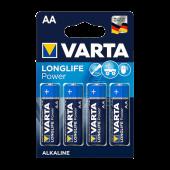 Blister de 4 piles LR06 (AA) Alcaline Xtralife 1.5 Volts Kodak®. 10 ans de garantie.