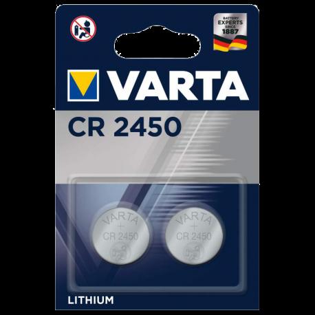 Pile bouton CR2450 lithium 3Volts Varta 570mAh
