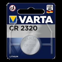 Blister de 1 Pile bouton CR2320 lithium 3 Volts Varta®