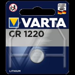 Blister de 1 Pile bouton CR1220 lithium 3 Volts Varta®