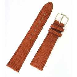 Bracelet de montre 20mm Gold en cuir de veau façon Lézard